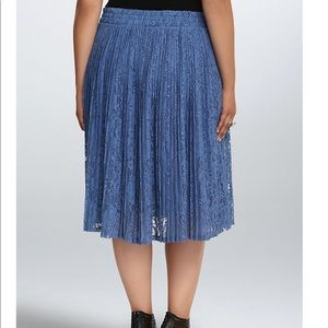 c6564747a4 torrid Skirts | Pleated Lace Plus Size Midi Skirt | Poshmark